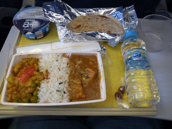 ジェットエアウェイズ機内食