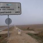 雨、風、の次は霧攻めに。~スペイン巡礼17日目~